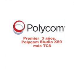 Polycom Premier Three Year kit X50 con TC8