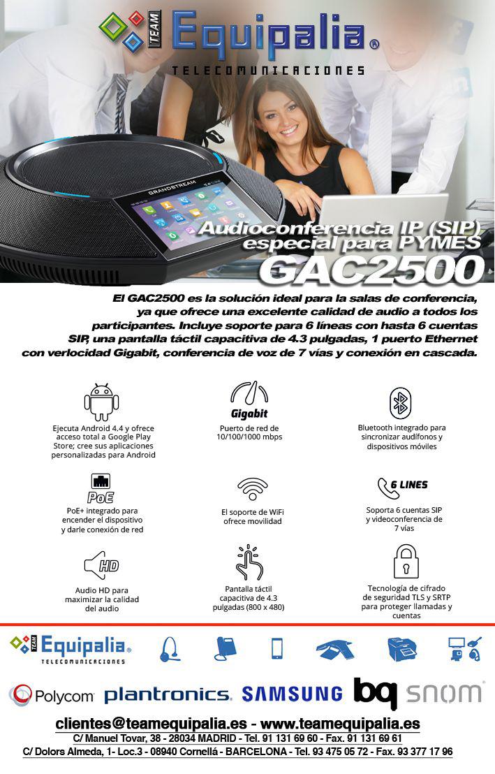 Audioconferencia GrandStream PYMES