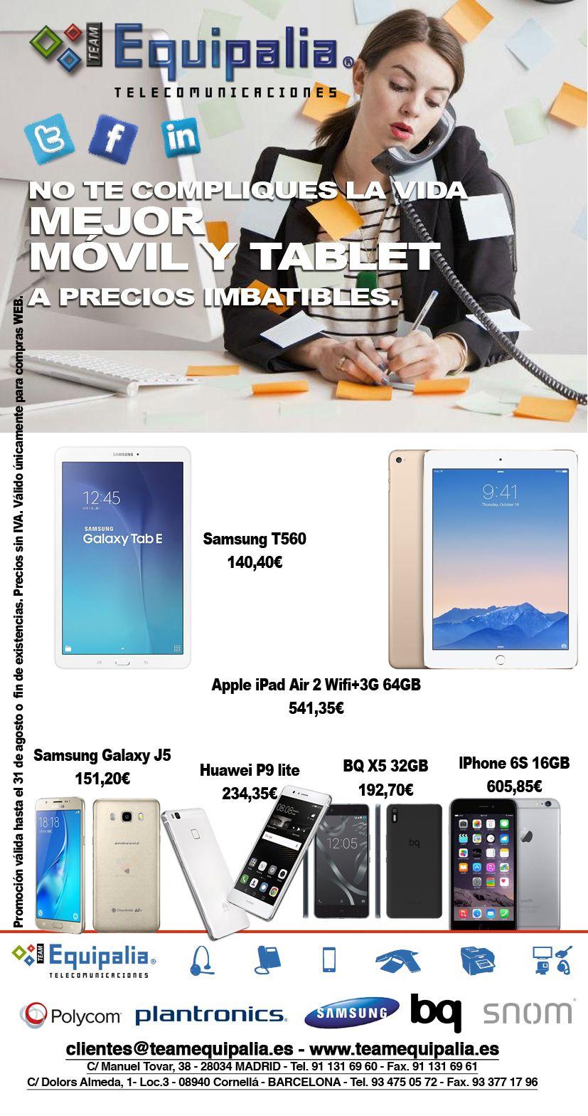 Moviles y Tablets a buenos precios en Team Equipalia